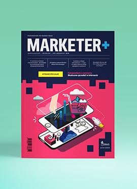 Projekty okładek kwartalnika Marketer+