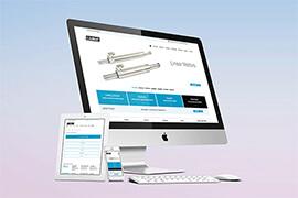 Korporacyjna strona internetowa dla LinMot