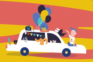Jedna z autorskich ilustracji stworzona na potrzeby projektu książki dla dzieci