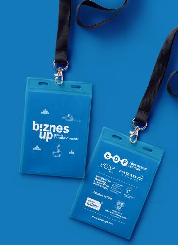 BiznesUp! Biznes zaprojektowany. Identyfikatory festiwalowe