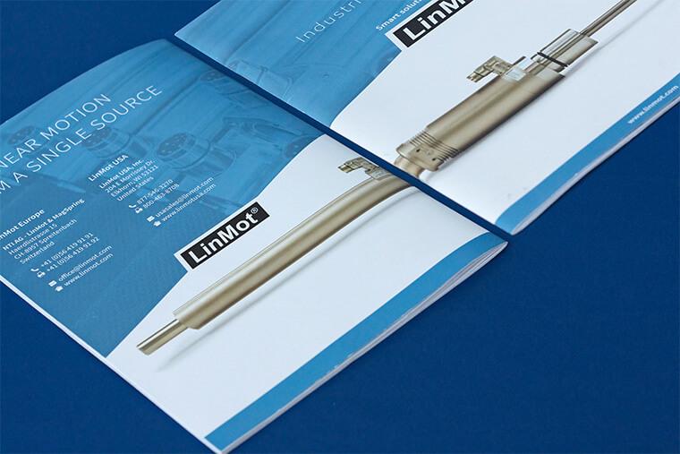 Dla szwajcarskiej firmy LinMot wykonaliśmy projekt katalogu produktów