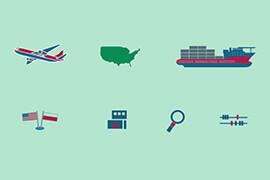 Seria trzech infografik na temat Umowy TTIP