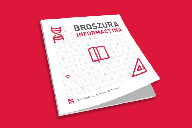 Projekt broszury dla Narodowego Centrum Nauki