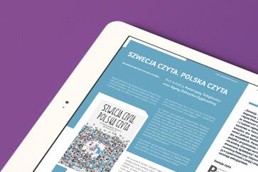 Dla katalogu centralnych zbiorów polskich bibliotek naukowych Nukat zaprojektowaliśmy kwartalnik Tekst Ujednolicony