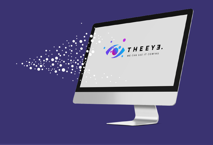 Zaprojektowany logotyp THE EYE