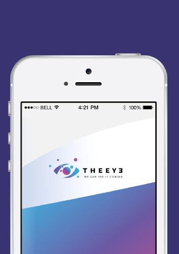 Strona internetowa THE EYE - widok na urządzeniu mobilnym