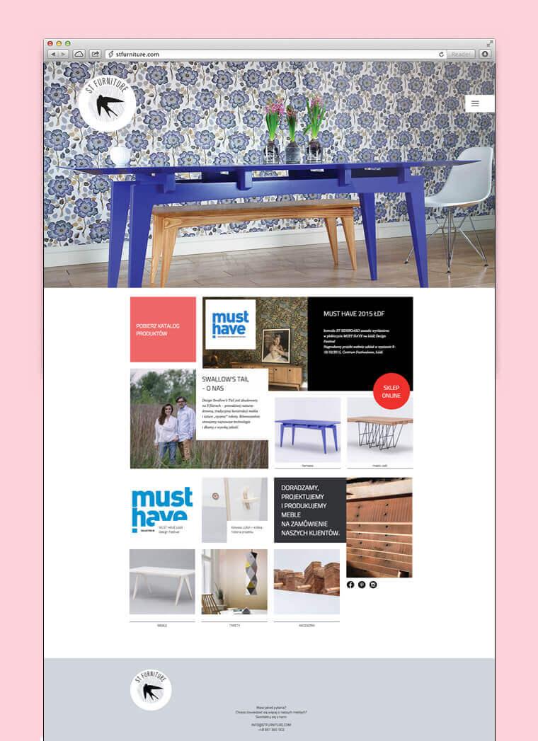 Projekt i wdrożenie strony, sklepu i blogu dla marki Swallow's Tail