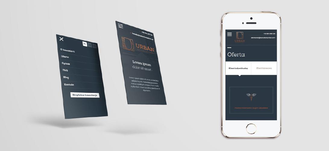 Strona internetowa - widok mobilny