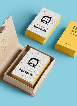 Identyfikacja wizualna dla Syrup.is Marketplace