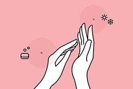 infografika - domowa pielęgnacja dłoni