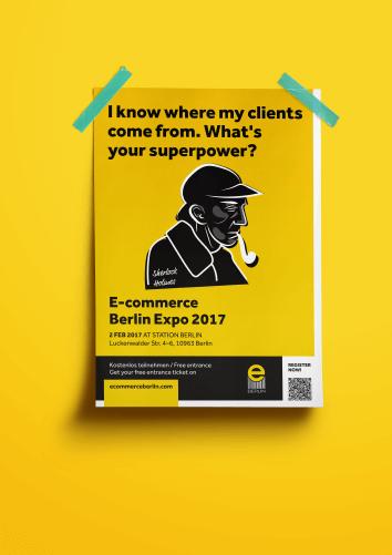 Plakat zaprojektowany na Targi E-commerce Berlin EXPO 2017