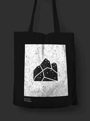 Projekt torby z nadrukiem logotypu Kopalni