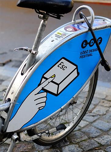 Jedna z kreacji na rowery