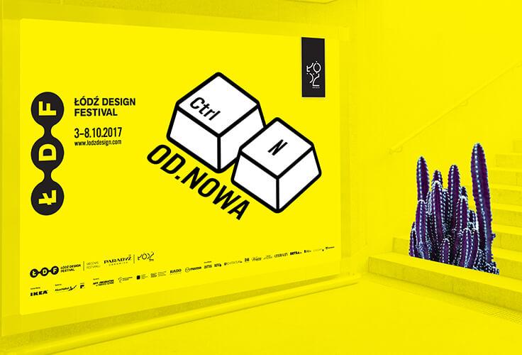 Plakat poziomy festiwalu Łódź Design Festival 2017