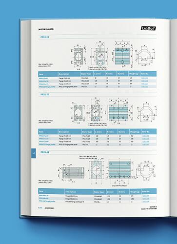 Publikacja zawierała rysunki techniczne produktów LinMotu