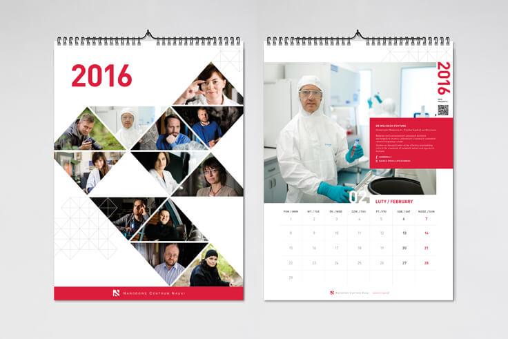 Projekt kalendarza dla Narodowego Centrum Nauki