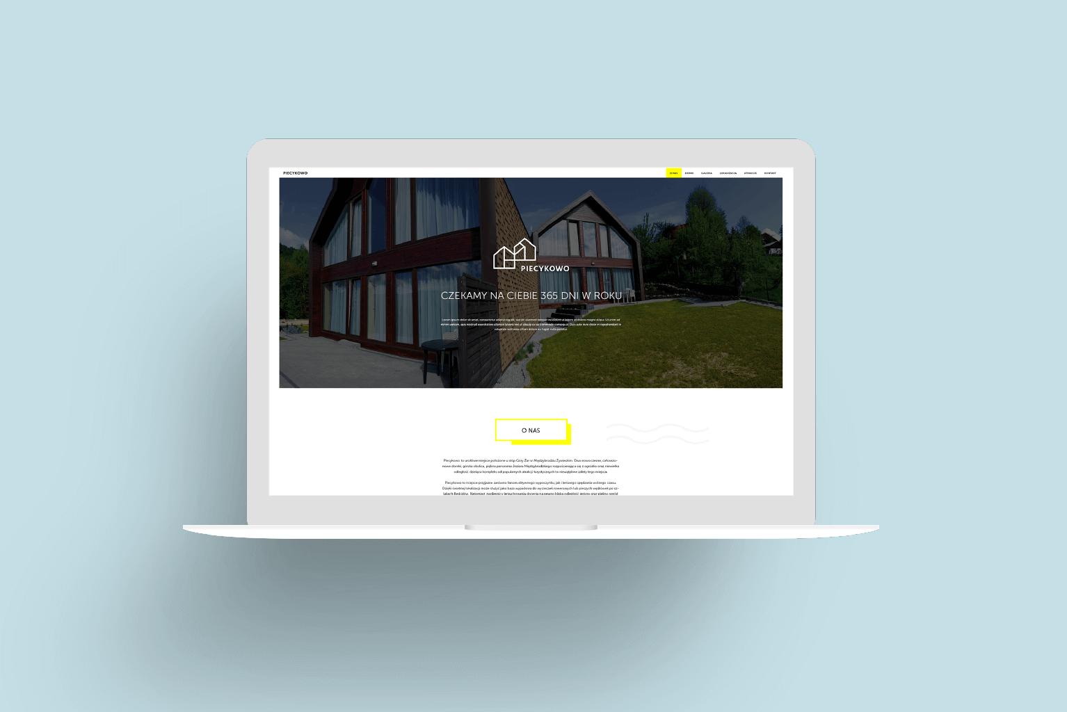 Piecykowo - projekt strony internetowej