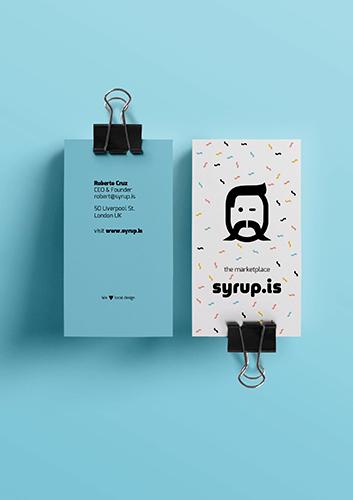 Wizytówki dla Syrup.is Marketplace