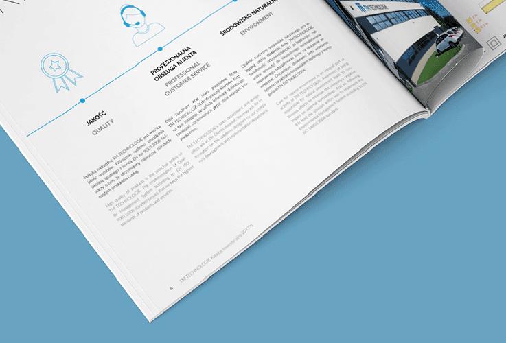 Katalog inwestycyjny 2017, projekt dla TM Technologie