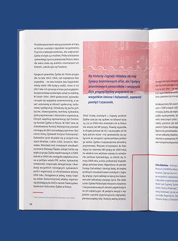 Projekt i skład książki dla Żydowskiego Muzeum Galicja - Świadkowie polsko-żydowskiej Historii