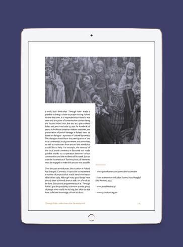 Through Polin. Reflections after the study visit - publikacja zaprojektowana dla Żydowskiego Muzeum Galicja