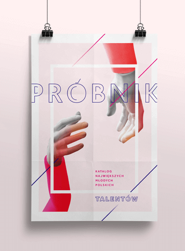 Projekt plakatu konkursowego na katalog Próbnik